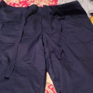Lou and Grey drawstring poplin roll cuff pants